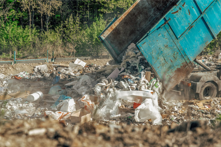 Plastic waste at Cracker Construction Shell, Beaver County, Pennsylvania, U.S.. Image by Ted Auch/FracTracker Alliance.
