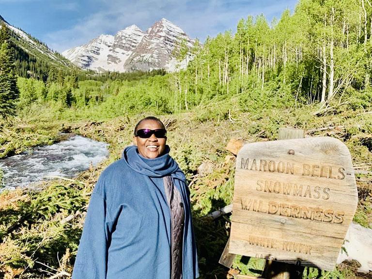WWF-Africa's Alice Ruhweza in Colorado. Photo credit: WWF.