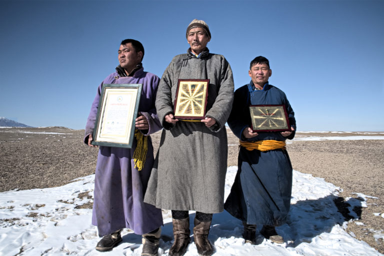 Some of the herders Ulambayar works with.