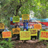 """The """"Stop the Chop Protest"""" in Miri, Sarawak against Malaysian forestry company Samling in October 2020. Photo credit: The Borneo Project"""