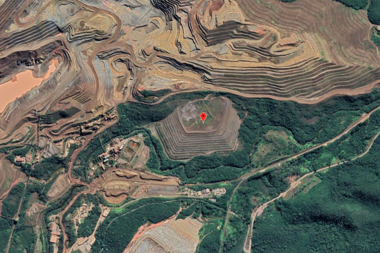 The Xingu dam is located within a larger mining complex in Mariana.
