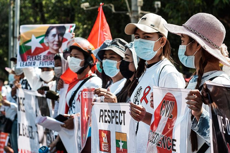 Manifestations en Birmanie