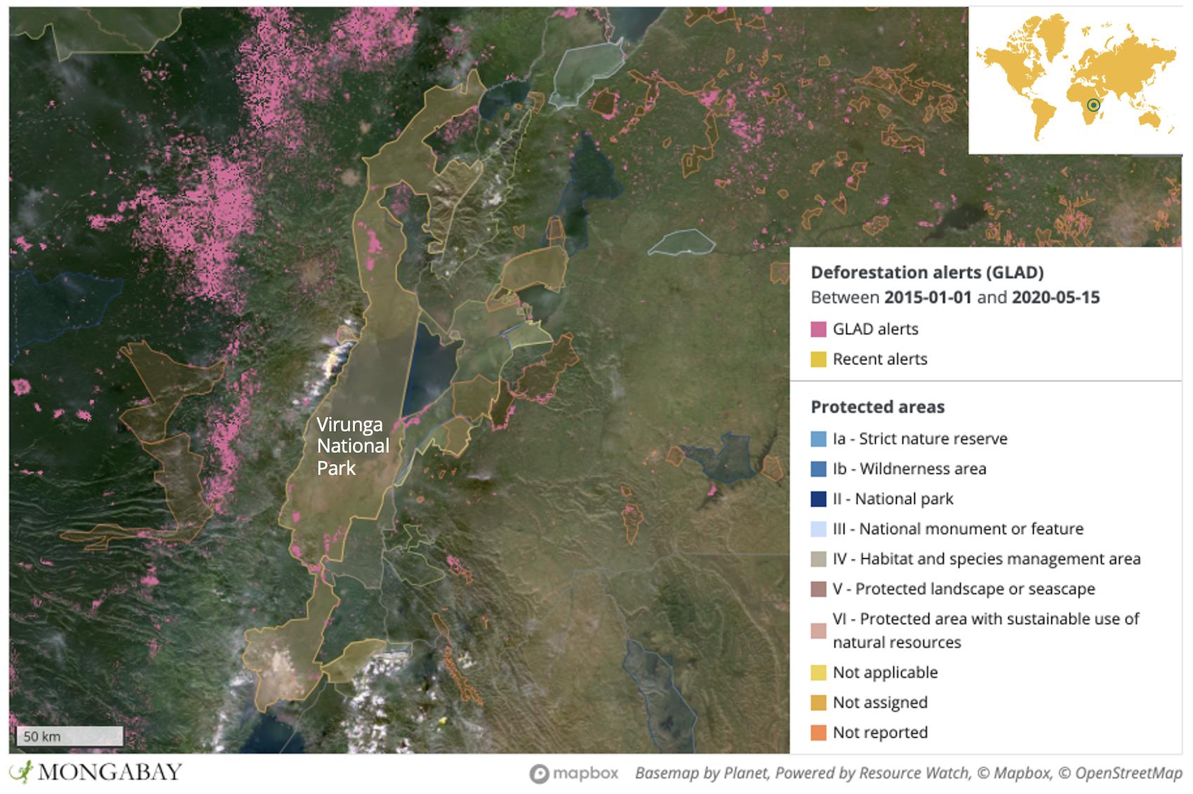 deforestation virunga national park