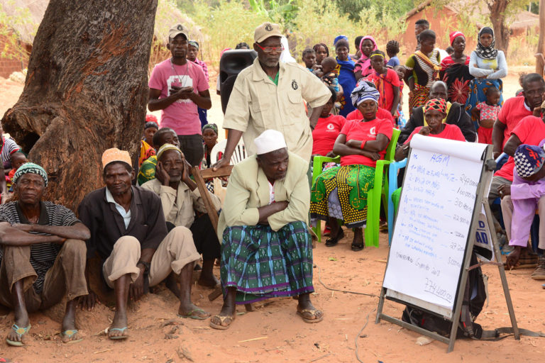 Engagement with local communities is central to the Niassa Carnivore Project's work. Photo credit: Colleen Begg.