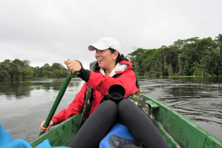 Aileen Lee in the Amazon