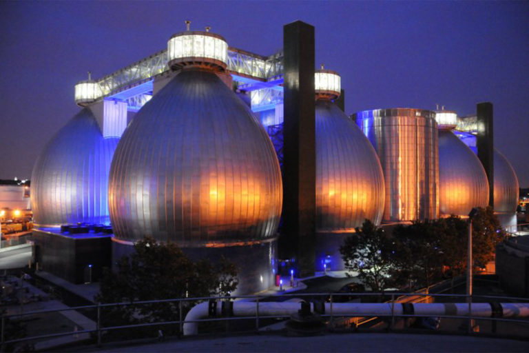 The Newtown Creek wastewater treatment plant