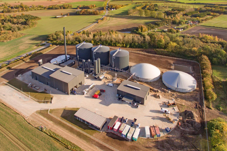 Nature Energy biogas plant in Nordfyn, Denmark
