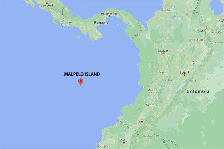 Google Map showing Malpelo Island.