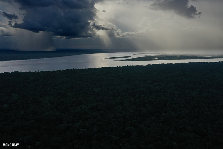 Rainfall over the Amazon rainforest in Colombia. Image by Rhett A. Butler/Mongabay.