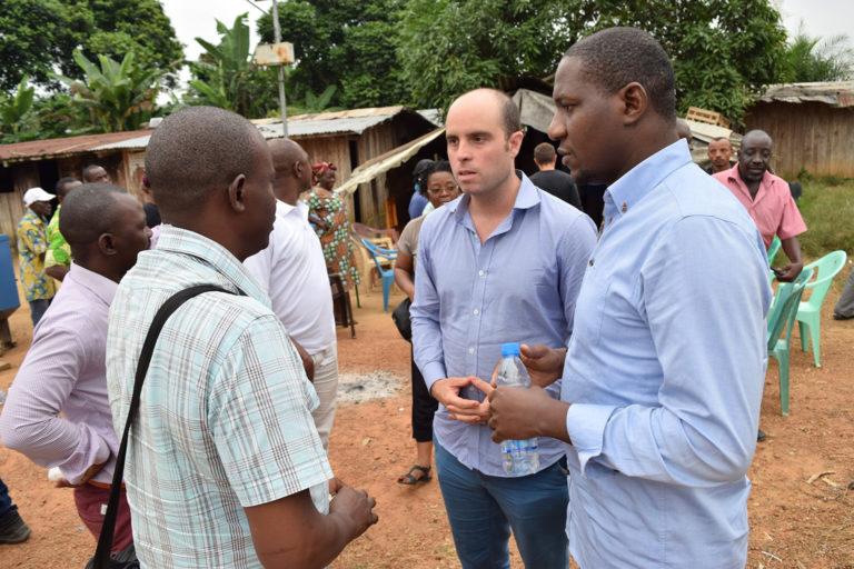 Glenn Hurowitz in Gabon with local partners