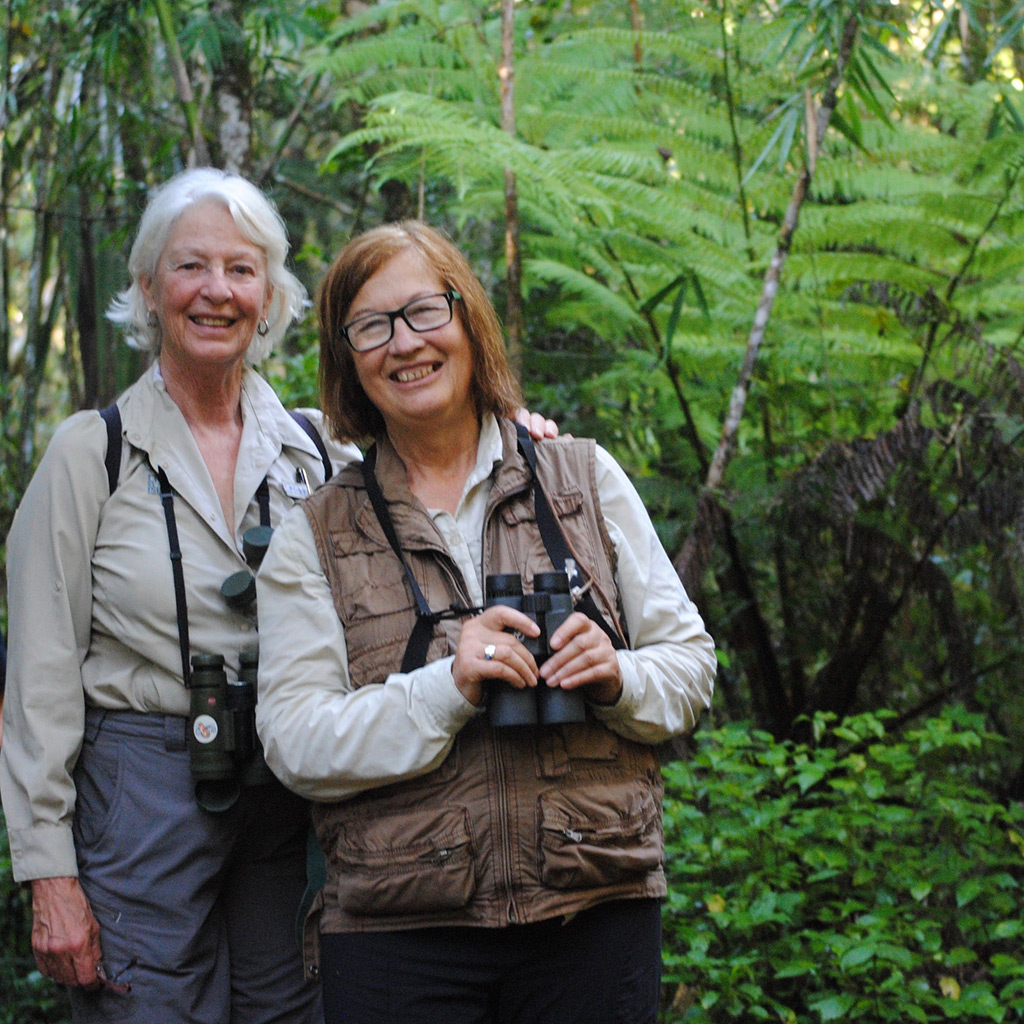 Jane Alexander and Patricia Wright in Madagascar. Photo courtesy Jane Alexander
