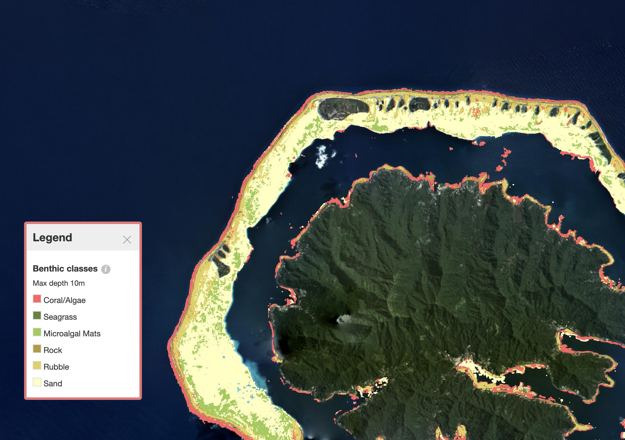 Benthic map
