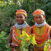 Two Indigenous women in Odisha, India.