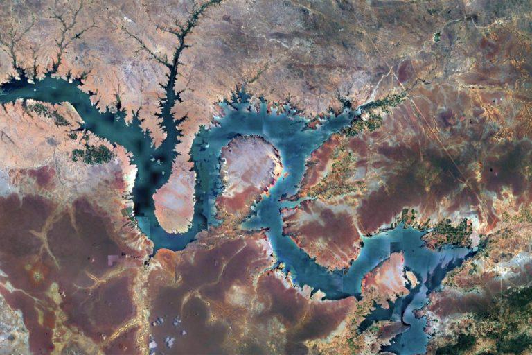CNES+Airbus satellite image of Petrolandia, Pernambuco, Brazil. Image processing by Rhett A. Butler / Mongabay