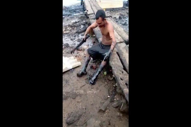 Fisherman at Lake Maracaibo
