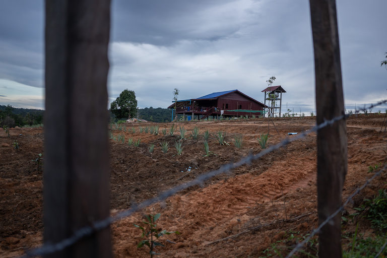 A house in Botum Sakor district that was recently purchased by a government official. Nearby villagers complained that he had encroached on a public road. Image by Andy Ball.