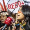 Indigenous woman speaking at COP25