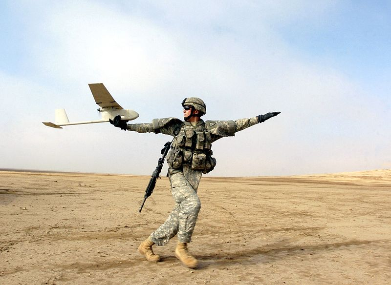 RQ-11_Raven_1_Sgt. 1st Class Michael Guillory_USArmy-Wikimedia