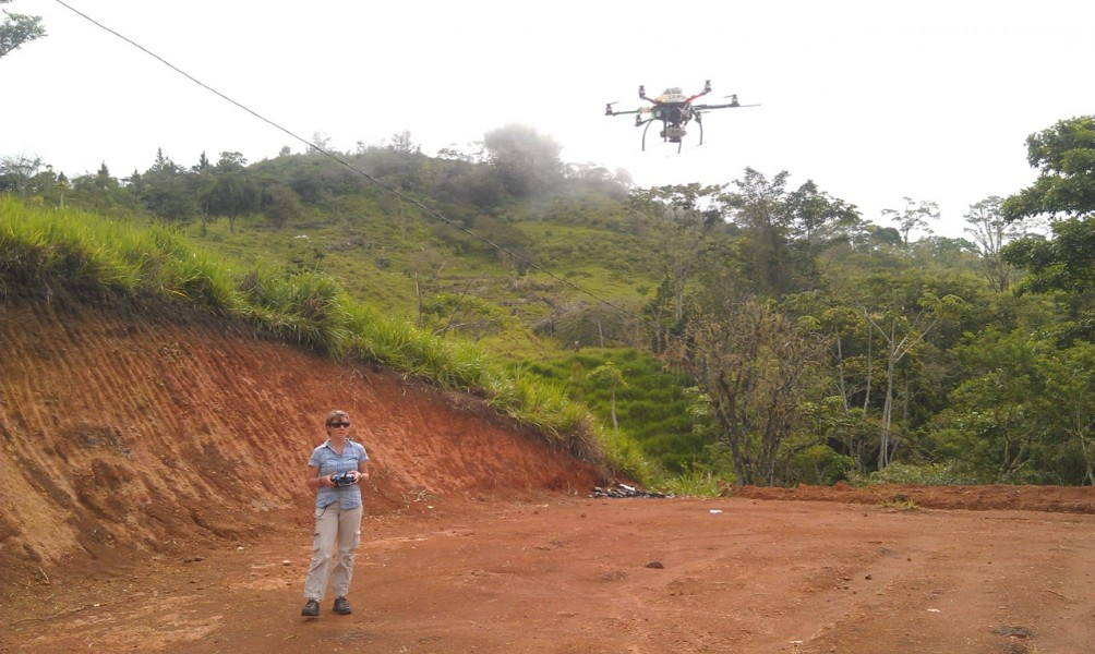 Flying a hexacopter in Costa Rica. Image courtesy of Rakan Zahawi.
