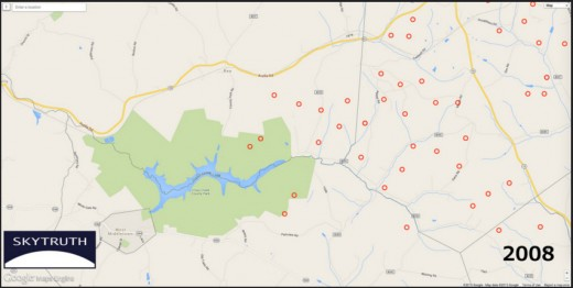 Fracking map 2008