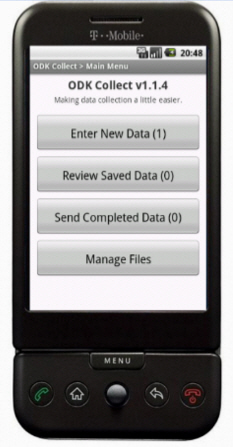 ODK Collect, as it appears on a smartphone.