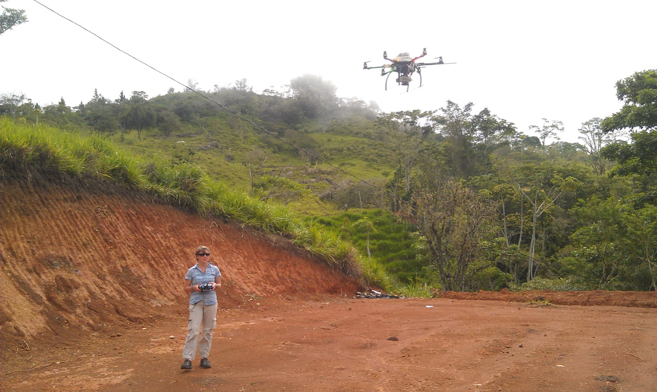 Flying a hexacopter in Costa Rica.