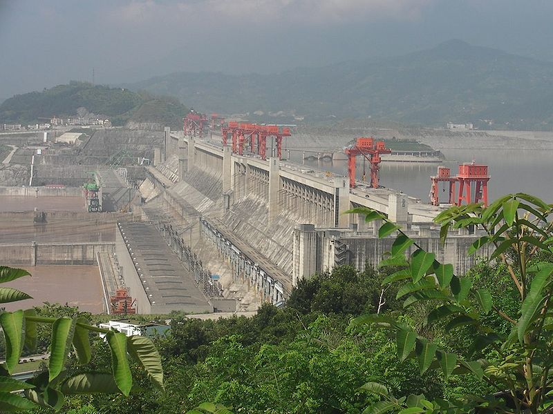 China's Three Gorges Project, along with other dams on the Yangtze River, have eliminated roughly 91 percent of the river's sediment load over the past 60 years. Photo by Hugh licensed under the Creative Commons Attribution-Share Alike 2.0 Generic license