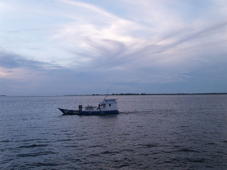 The Tapajos River at Santarem where it meets the Amazon. Photo by Mélété licensed under the Creative Commons Attribution-Share Alike 3.0 Unported license.