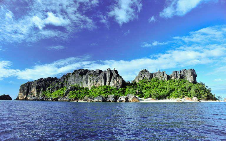 The island of Nosy Hara, Madagascar. Photo credit: Louise Jasper.