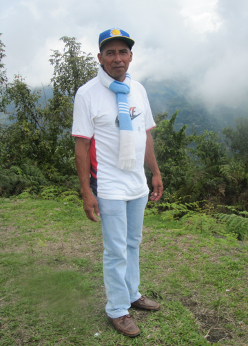 Fernando Salazar Calvo appears in this June 2014 photograph. He was murdered on April 7, 2015, apparently in connection with his work to maintain indigenous control of mining activities on the Cañamomo Lomaprieta Indigenous Reservation in northwestern Colombia . Photo credit: Viviane Weitzner / Forest Peoples Programme.