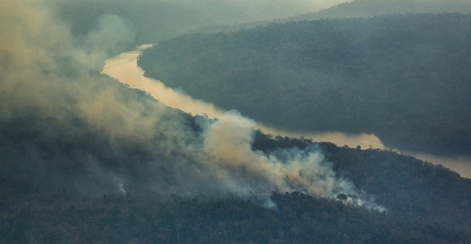 Wildfires destroy the forest cover of the Amazon state of Maranhão, Brazil. Photo courtesy of Greenpeace.