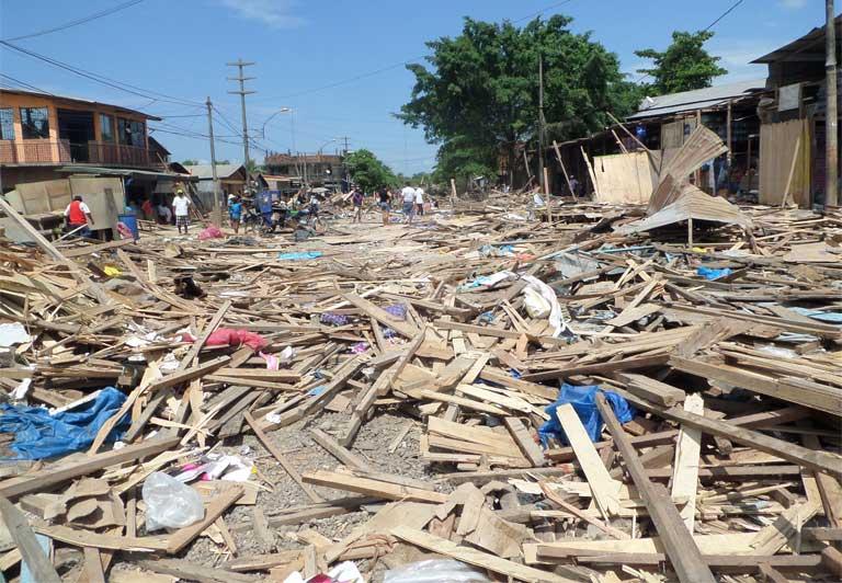 The bulldozed Bellavista market. Photo courtesy of NPC
