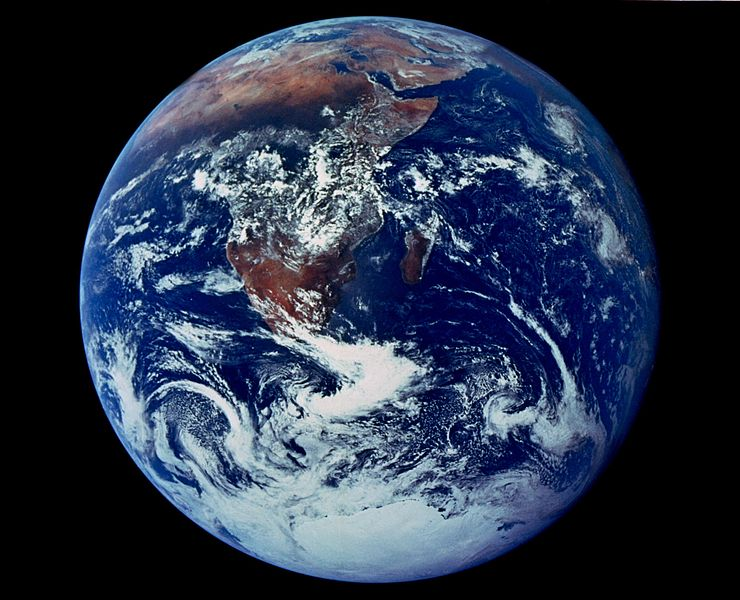 Apollo 17 image of Earth from space. Many COP21 participants want to contain the globe's climate change fever, not allowing it to increase by more than 1.5 degree C. Photo courtesy of NASA