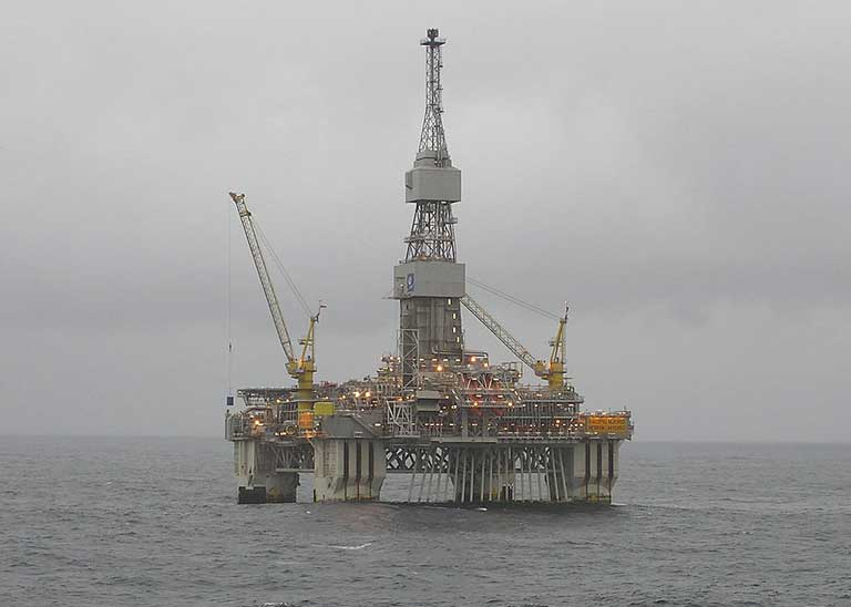 A North Sea oil platform. Photo by Tom Jervis posted to Flickr.com licensed under the Creative Commons Attribution 2.0 Generic license
