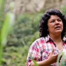 Berta Cáceres en Honduras. Foto cortesía de Goldman Environmental Prize.