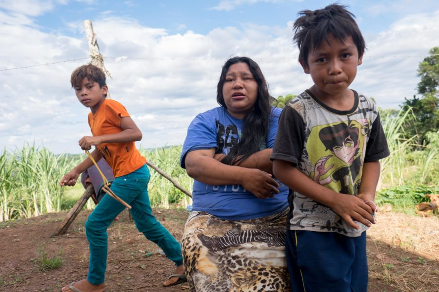 La madre de Vítor Pinto, Sônia, y su otro hijo, José. Foto cortesía de Mauro Pimentel.