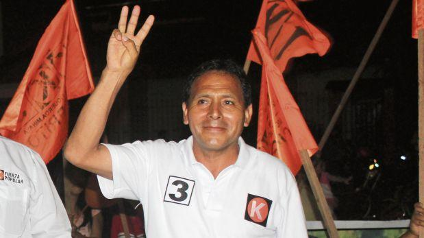 Modesto Figueroa es el congresista virtual del partido Fuerza Popular que está vinculado con la minería ilega. Fotografía: Manuel Calloquispe/ El Comercio)
