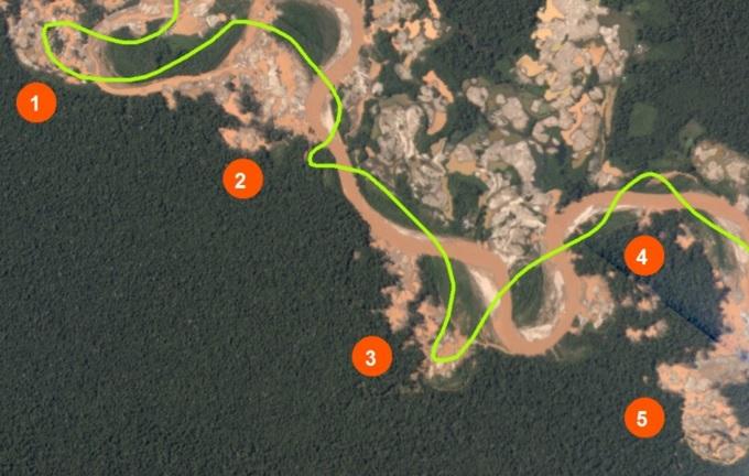 Estos son los 4 principales campamentos que depredan el bosque de la Reserva Nacional de Tambopata. Foto: MAAP