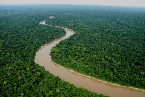 Vista panóramica de la futura zona reservada de Yaguas. En la imagen el río del mismo nombre. Fotografía: ADC