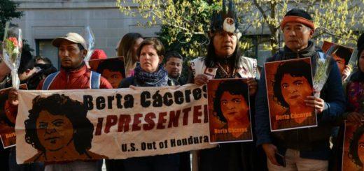 Indígenas lencas protestas por la impunidad en el juicio por la muerte de la lideresa Berta Cáceres. Fotografía de Daniel Cima/CIDH.