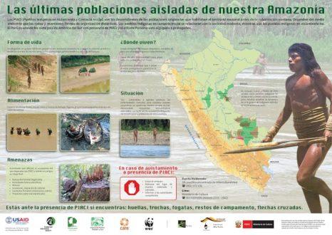 Infografía del Ministerio de Cultura que explica la situación de los PIACI en el Perú.