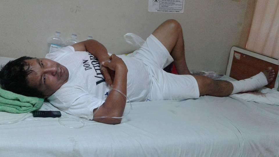Hugo Vásquez se recupera en el hospital y se espera que tras la operación pueda volver a caminar. Foto: Cortesía de la SPDA.