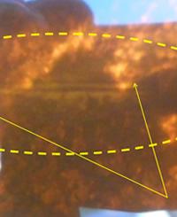 Corte producto una sierra en el Oleoducto Norperuano. Fotografía de Petroperu.