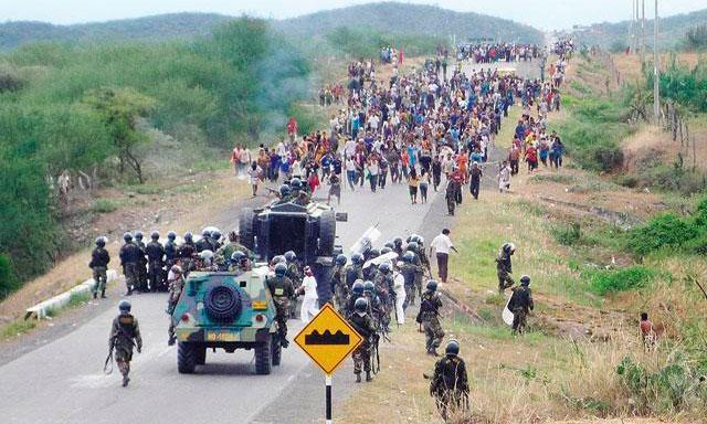 El conflicto del Baguazo en 2009, que cobró la vida de 33 muertos, fue el contexto de creación de la Ley de Consulta Previa. Fotografía de La República.