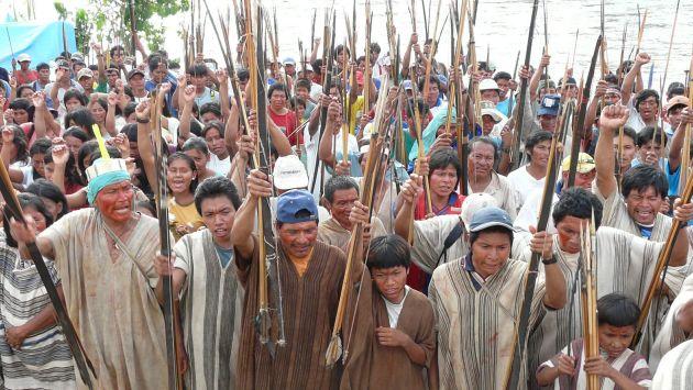 Protesta indígena. Fotografía de Peru21.pe/difusión.
