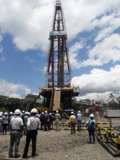 Campo Tiputini, inaugurado oficialmente este miércoles 7 de setiembre. Foto de la cuenta oficial de Twitter del Ministerio de Hidrocarburos de Ecuador