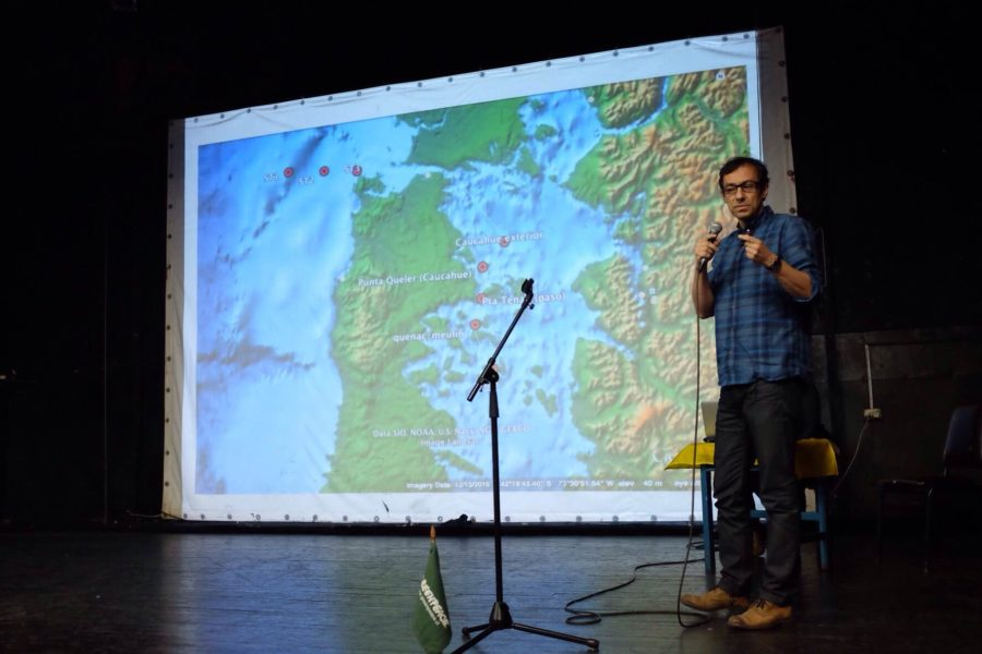Greenpeace presentó su informe el fin de semana en Ancud, una de las principales ciudades del archipiélago de Chiloé. Foto: Cortesía de Greenpeace.