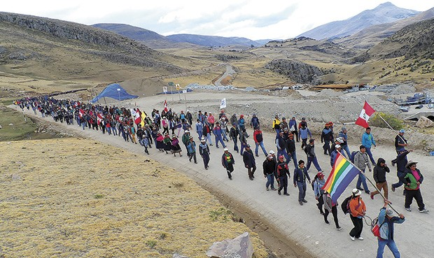 Protesta en Las Bambas, Apurímac. Fotografía de La República/ Archivo.