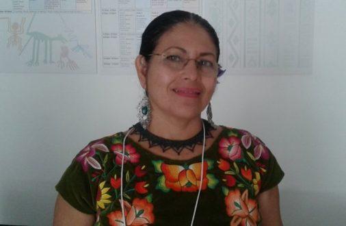 Bettina Cruz Velásquez de la Asamblea de los Pueblos Indígenas Istmo de Tehuantepec en Defensa de la Tierra y el Territorio (APIITDTT. Foto de Joaquín Ortiz