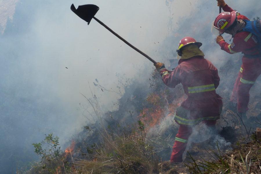 El incendio ya ingresó al Parque Nacional Cutervo. Foto: Municipalidad de Cutervo.